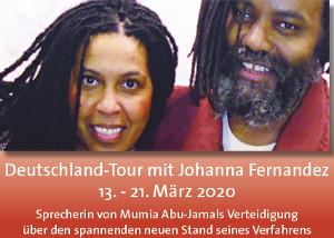 Veranstaltungsreihe 2020 mit Johanna Fernandez