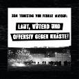 Poster zu Kundgebung und Demo am 23.07.2021: Laut, wütend und offensiv gegen Knäste